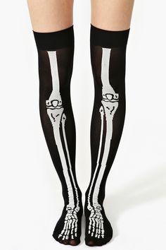 Skeleton Thigh Highs