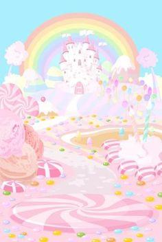 6151 Fantasy Candyland Castle Backdrop - Backdrop Outlet