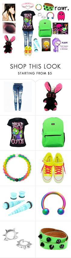 """""""$C3N3 QU33N"""" by weird-emo ❤ liked on Polyvore featuring CENA, Dickies, Lokai, Converse, Hot Topic, Maria Francesca Pepe and Almala"""