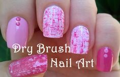 Dry brush #nailart in pink & white - For more easy nail ideas please subscribe to my YouTube channel: https://www.youtube.com/user/LifeWorldWomen