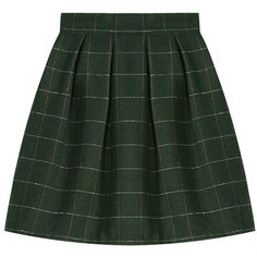Plaid Mid-rise Midi Woolen Skirt (€18) ❤ liked on Polyvore featuring skirts, bottoms, faldas, mid-calf skirt, green midi skirt, wool skirt, tartan skirt and midi skirt