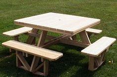 Easy walk in picnic table..