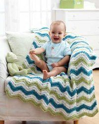 Striped Chunky Blanket