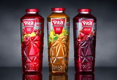 Vita Premium Juices on Packaging of the World - Creative Package Design Gallery Rice Packaging, Food Packaging Design, Beverage Packaging, Packaging Design Inspiration, Water Packaging, Label Design, Package Design, Drink Labels, Bottle Design
