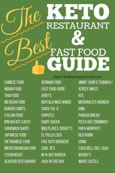 Eating out on Keto might seem difficult, but it doesn't have to be! Check out our sit down restaurant & fast food keto guide! Enjoy eating out on Keto! Keto Restaurant, Restaurant Guide, Keto Fast Food, Keto Foods, Keto Food List, Keto Diet Guide, What Can I Eat, Keto Diet For Beginners, Keto Meal Plan