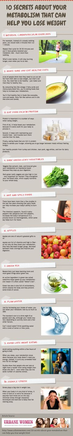 10 Secrets About Your Metabolism That Can Help You Lose Weight! Infographic