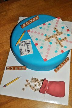 Scrabble cake for ladies night- everything is edible
