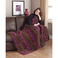 Classic Afghans from Leisure Arts presents ten knit designs in the Best of Mary Maxim collection of winning wraps with classic patterns in rich colors. Designs include Cozy Colorful Throw, Uptown Throw, Cables and Twists Throw, Dreams of Ireland, Lilies a Knitted Afghans, Knitted Blankets, Knitted Hats, Knitting Stitches, Knitting Designs, Knitting Patterns, Crochet Ripple, Crochet Yarn, Knitting For Kids