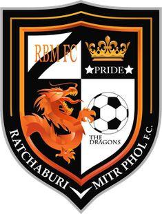 Ratchaburi Mitr Phol FC of Thailand crest. Ferrari Logo, Porsche Logo, Fifa, Badges, Football Mexicano, Branding Design, Logo Design, Football Team Logos, Crests