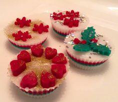 Christmas cupcake soaps