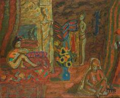 Piotr Potworowski (1898 – 1962). Odaliska - Hommage à Delacroix, 1945    Muzeum Sztuki w Łodzi