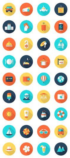 Freebie: Travel and Vacation Icon Set (AI, EPS, PSD)