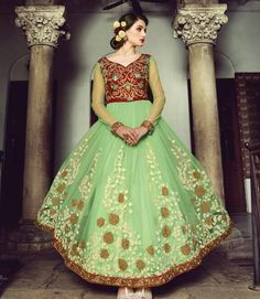 Welcome to Mirajonline.com your definitive destination for buying Indian clothes online. This online clothing store has the most up-to-date collection of designer Indian dresses. Our range of Indo-Western haute culture is designed especially for all the fashionistas out here, who are gazing to buy Indian clothing.<br /><br />Product specification:<br />Fabric: Net