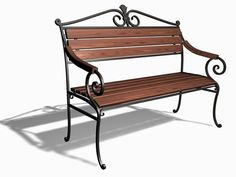 Кованые садовые скамейки, художественная ковка