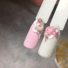 #candyball • Фото и видео на Instagram Rose Nail Art, Rose Nails, 3d Nails, Gel Nail Art, Nail Art Diy, Beautiful Nail Art, Gorgeous Nails, French Nails, Nailart