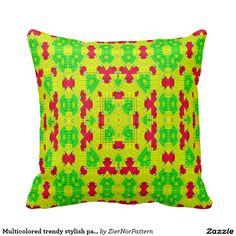 Multicolored trendy stylish pattern pillows