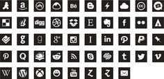 A webfont based on a set of social icon vectors #iconFont