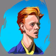 Thanks you só much Bowie.  #bowie #drawing #art #colours