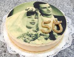 Goldene Hochzeit Jubiläumstorte | Golden Wedding Anniversary Cake