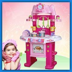 Child Play Kitchen Girls Kids Pretend Toy Lttle Chefs Accessories Game Learn Fun
