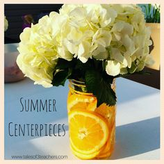 summer, centerpieces