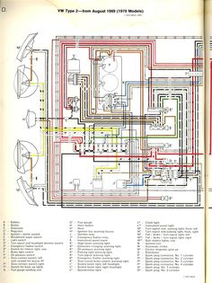 1971 Bus Wiring    diagram      TheGoldenBug   Stuff to Try   Pinterest      Diagram     Volkswagen bus