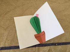 Carta de San Valentin! Que es mas romantico que un cactus? hahaha Con papel de color es una tarea sencilla y muy vistosa. Ya estamos pensando...