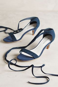 Jeffrey Campbell Wrapped Suede Kitten Heels - anthropologie.com #anthrofave