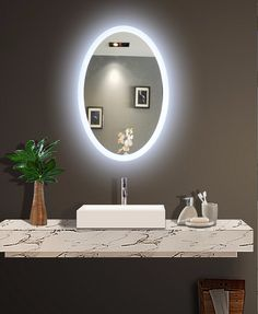 round bathroom mirror with led backlight best bathroom lighting rh pinterest com LED Mirror Lights installing led bathroom mirror