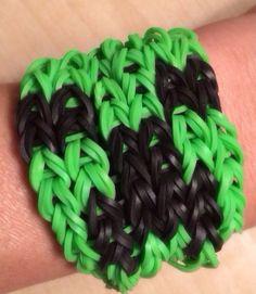 Rainbow Loom -  Minecraft CREEPER Bracelet - made with Genuine Rainbow Loom Bands on Etsy, $10.00