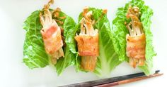 The Little Foodie: Bacon Wrapped Enoki Mushrooms