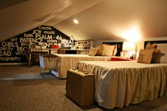 Fun attic space