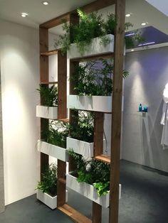 Vertical gardens 577797827179640758 - 56 DIY Vertical Garden Design Ideas For Your Home Jardin Vertical Diy, Vertical Garden Design, Vertical Gardens, Vertical Bar, Living Room Partition Design, Room Partition Designs, Wood Partition, Partition Ideas, Partition Screen