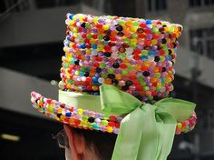 Easter bonnet ideas include this top hat covered in beads that look like small jelly beans. Recent Photos The Commons Getty Collection Galleries World Map App . Boys Easter Hat, Easter Bonnets For Boys, Easter Hat Parade, Easter Costumes For Kids, Halloween Kids, Crazy Hat Day, Crazy Hats, Silly Hats, Crea Design