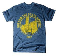 Sustain the State Armory T-Shirt (West Broadway Neighborhood Association, #Providence, #RI), 2014.