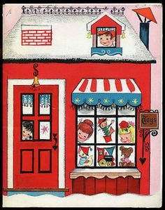Vintage Hallmark Play House Play Card Shops Christmas Punch Out Paper Doll (01/26/2014)