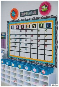 Schoolgirl Style Classroom Decor, Classroom themes, COLOR MY CLASSROOM, Rainbow, bulletin board, bright, chalkboard, classroom organization, flexible learning spaces, inspiration, kindergarten www.schoolgirlsty...