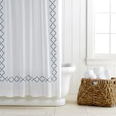 Moroccan Gate Shower Curtain, Adriatic Blue
