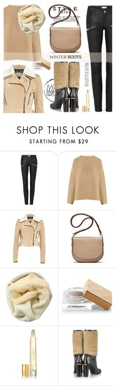 """""""Winter boots: so cozy"""" by jan31 ❤ liked on Polyvore featuring Nili Lotan, Burberry, Elizabeth and James, Brunello Cucinelli, cozy, neutrals, sweaters, leatherpants and winterboots"""