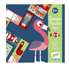 Djeco Kinderspiel Domino Animo Tiere für Kinder ab 4 Jahren