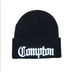 Compton Beanie in Black Compton Beanie in Black. Worn a couple times; perfect condition. RTP: $12. (non stock photos will be uploaded soon) Accessories Hats