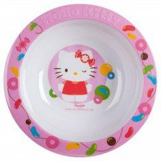 Kinder Müslischale  Hello Kitty  Melamin, Ø 16cm, rosa / weiß