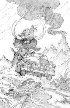 ungoliantschilde:  more penciled artwork by Mark Schultz.