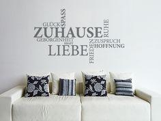 Wandtattoo Wortwolke zum Thema Zuhause - zusammenleben