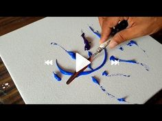 Making of Abstract Painting / Blue / Palette knife & Acrylics / Project . - - Making of Abstract Painting / Blue / Palette knife & Acrylics / Project … Art Making of Abstract Painting / Blue / Palette knife & Acrylics / Project … Abstract Painting Easy, Abstract Painting Techniques, Simple Acrylic Paintings, Acrylic Art, Painting Prints, Diy Painting, Project Abstract, Paint Techniques, Acrylic Nails