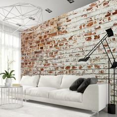 Photo Wallpaper Wall Murals Non Woven Modern Art Optical Illusion Brick Stone Effect Wall Decals Bedroom Decor Home Design Wall Art 236 Brick Pattern Wallpaper, Faux Brick Wallpaper, 3d Wallpaper Mural, Photo Wallpaper, Brick Interior, Interior Design, Brick Wall Decor, Wall Design, House Design