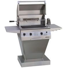27'' Solaire Deluxe Infrared Grill Angular Pedestal Base features a state of the art, rapid-start electronic ignition as well, making start up a breezeno more waiting around for finicky charcoal to light! Add it to your backyard today for a lifetime of delicious BBQ feasts made to make you the envy of the neighborhood! Made in the USA. The Solaire Grill is shipped ready to use with propane. A conversion kit is included for use with natural gas.