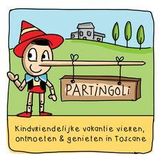 Kindvriendelijk vakantie vieren in Toscane bij Partingoli.com