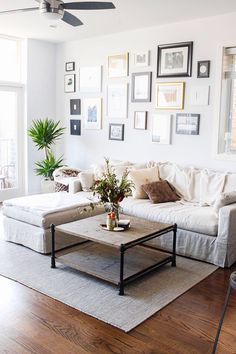 Yes yes yes! Couch shape and LOVE the coffee table! Perfect!