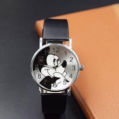 Children's Watches Smart New Women Watch Cute Kitty Pattern Fashion Rhinestone Quartz Watches Casual Cartoon Leather Clock Girls Kids Wristwatch Femme